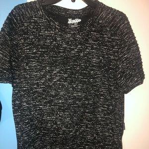 Short sleeve black and white shirt